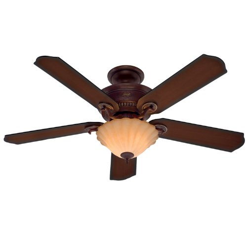Hunter 23958 52-Inch Regal Oak Ceiling Fan (Leather Brown)