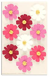 Martha Stewart Crafts Stickers Cosmos Flowers Pink/White By The Package