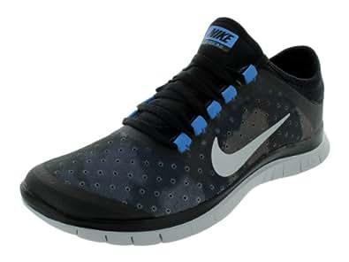 Nike Women's NIKE FREE 3.0 V5 EXT WMNS RUNNING SHOES 6 Women US (BLACK/MTLLC SLVR/DRK GRY/NTRL GR)