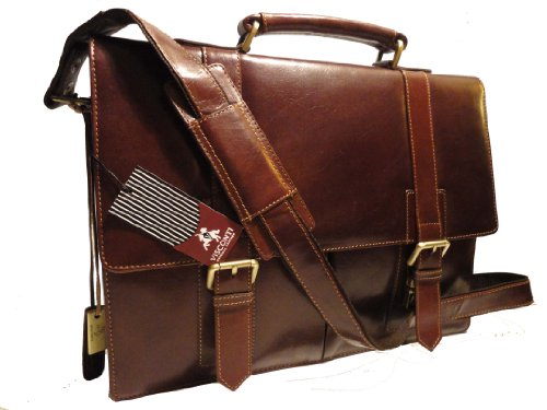 Visconti Leather Briefcase VT6 Veg Tan - Brown Bennett Messenger A4 Bag