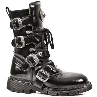 New Rock Comfort Light Boots Unisex - Black - Euro 42