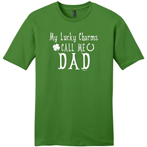 My Lucky Charms Call Me Dad St. Patricks Day Young Mens T-Shirt Small Kiwi Green