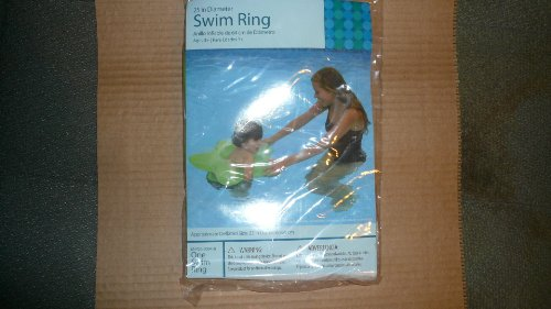 Bright Green Star Shaped Swim Ring - 1