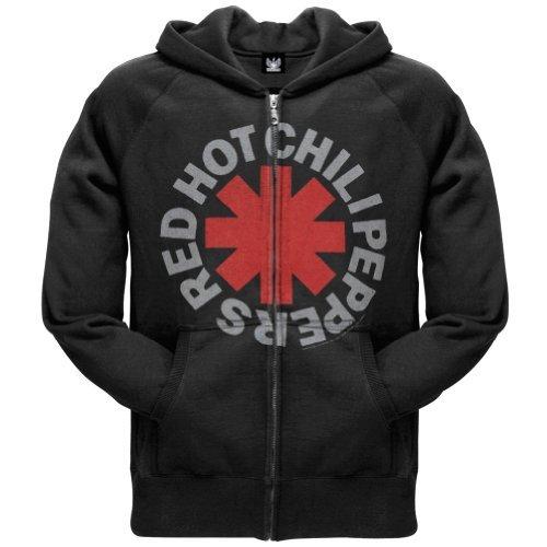 Red Hot Chili Peppers Asterisk Zip Hoodie Sweatshirt