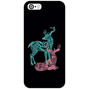 Via flowers Black Color Matte Finish Matte Finish Phone Cover For Apple iPhone 5S