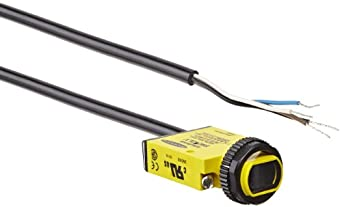 Banner SM312LV Mini Beam DC Photoelectric Sensor, Retroreflective Mode, Cable Termination, 5m Sensing Range, 2m Cable Length