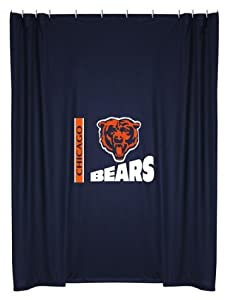 NFL Chicago Bears Shower Curtain - Football Bathroom Accessories by Sports Coverage