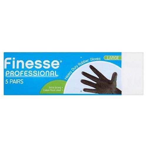 Finesse, misura media, colore: nero, professionale Heavy Duty Gloves, confezione da 5