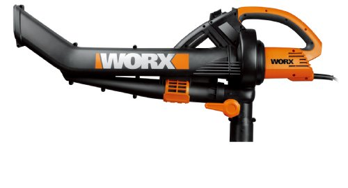 Worx Wg502.2 12-Amp Trivac Combo Kit, Includes Blower/Mulcher/Vac With Metal Impeller