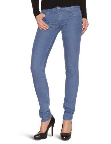 cheap-monday-zip-low-jeans-slim-de-couleur-femme-ace-blue-31-34