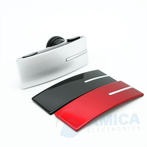 Bluetooth Headset For All Motorola Phones With 3 Changeable Face Plates Black, Red And Silver.