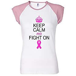 Keep Calm And Fight On Support Women's Raglan T-Shirt