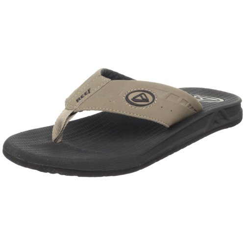 Reef Men's Phantoms Thong Sandal,Black/Tan,11 M US