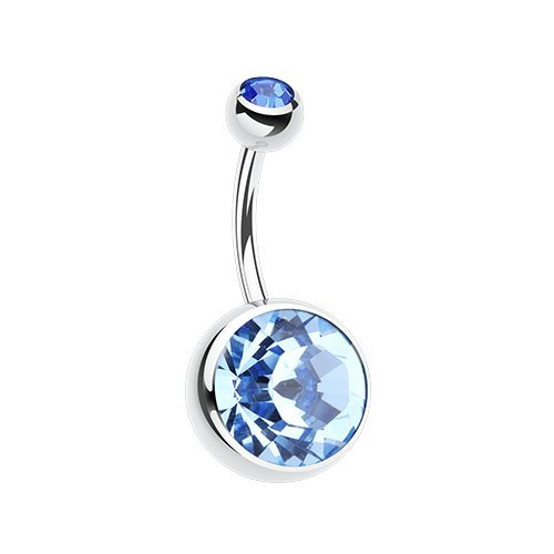 The Giant Sparkle Gem Ball Belly Button Ring (Light Blue) (Belly Rings Light Blue compare prices)