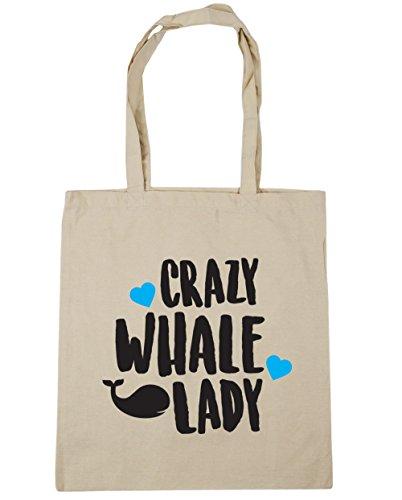 hippowarehouse-crazy-whale-lady-tote-shopping-gym-beach-bag-42cm-x38cm-10-litres