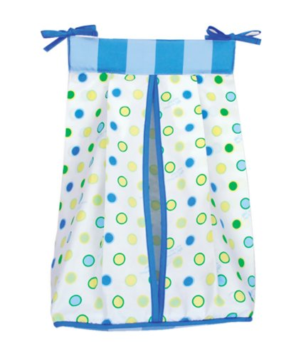 Trend Lab Infant Nursery Newborn Baby Nappy Storage Dr. Seuss Blue Oh The Places You'Ll Go Diaper Stacker front-261779