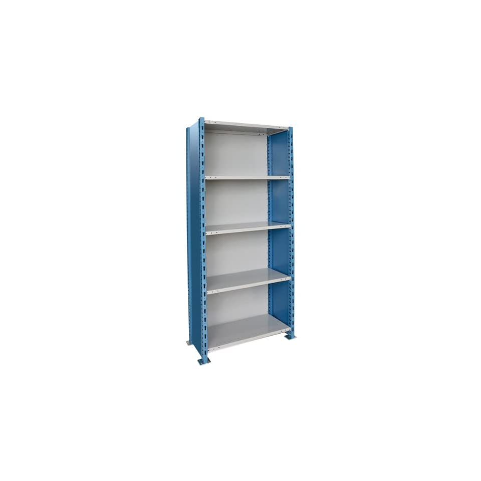 H Post Extra Heavy Duty Closed Shelving   5 Shelves   Starter   48W x 18D x 87H