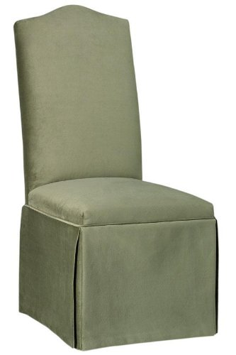 Camel - back Parsons Chair With Skirt, CAMEL W/SKIRT, BELLA TAUPE
