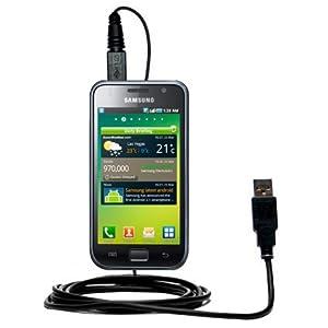 Un câble USB lisse, classique pour le Samsung GT-I9000 avec fonctions charge et HotSync