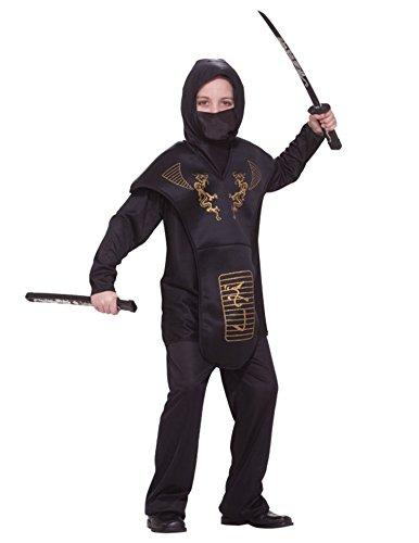 Forum Novelties Black Ninja Costume, Child Large