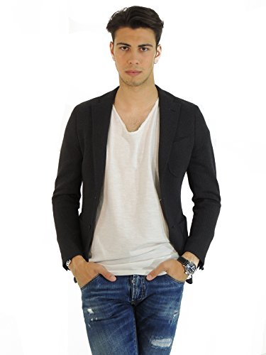 Manuel Ritz giacca uomo monopetto fantasia pied de poule G2708MX14363 (44, GRIGIO)
