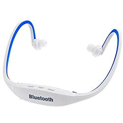 5IVE S9 Sport Wireless Bluetooth Headphone with Built-in Mic for iOS/Android/Windows (White-Blue)