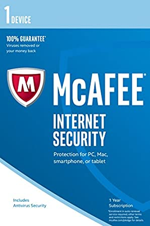 McAfee 2017 Internet Security - 1 Device (PC/Mac/Android)