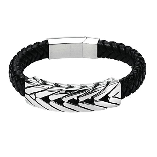 gnzoe-hommes-acier-inoxydable-wide-braided-leather-bracelet-noir-with-box-clasp-244x15cm