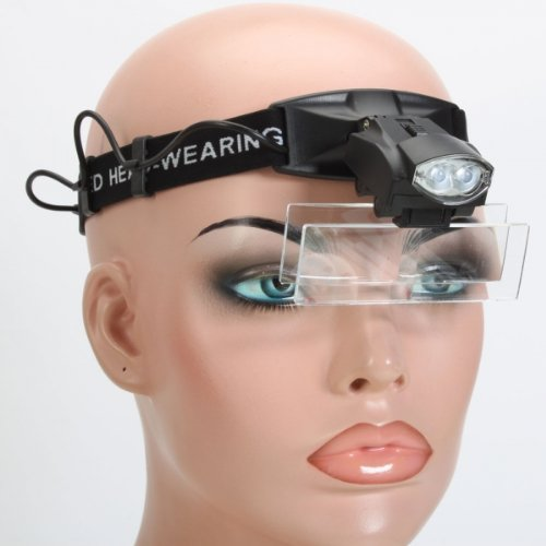 Usa Seller 2 Led Light Lamp Magnifier Loupe Headband Head Wearing For Repair Handcraft Carving Working
