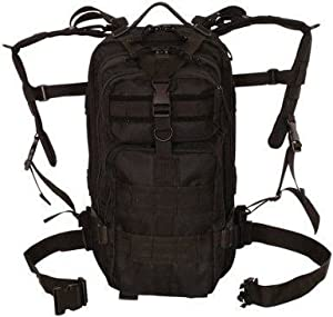 Ultimate Arms Gear Stealth Black Military 3 III Day Assault Travelers Camping Hiking Medium Size Modular Molle Alice Web System Transporter Transport Bagpack Bag Pack Case