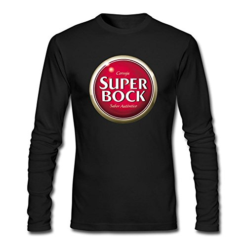 JUXING Men's Super Bock Beer Logo Long Sleeve T-shirt XXL ColorName (Naan Mix compare prices)