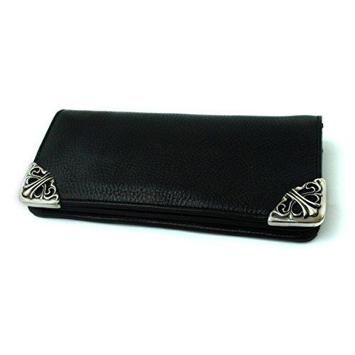 [クロムハーツ] 財布 シングル フォールド ヘビーレザー / CHROME HEARTS single fold long wallet [並行輸入品]