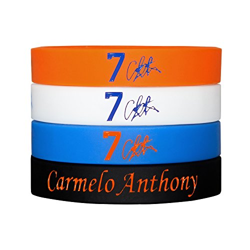 Silicone Wristband Bracelet , and more Stars to Arrive-4PCS, Assorted color. (Carmelo Anthony) (Zapatos Good Year compare prices)