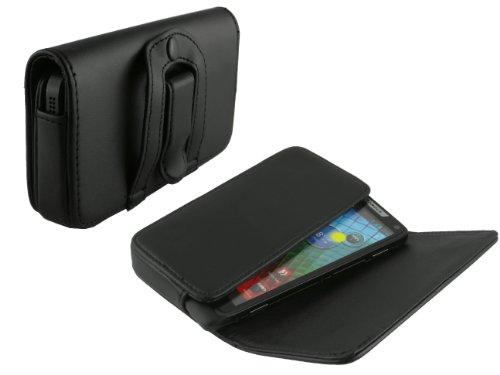mobilitii Elegante Leder Quertasche für Motorola XT890 Razr i plus Kfz Ladekabel