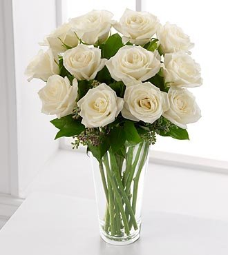 rose flowers bouquet. The FTD White Rose Bouquet is