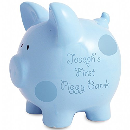 personalised-piggy-banks-blue-polka-dot