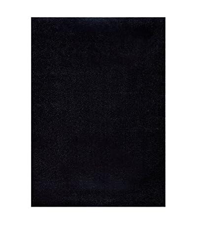 Chic Orange Teppich Platin / Uni schwarz