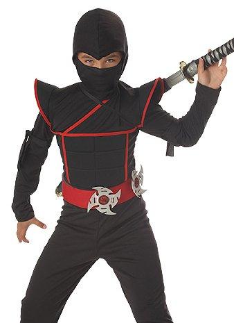 California Costumes Kids Black Ninja Warrior