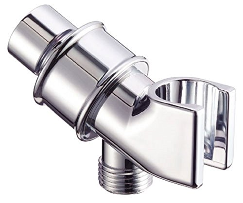 Universal Shower Head Holder Arm Mounted Adjustable Screwed On Bracket Wall Mount Chrome Silver Material Abs Brand New (Double Shower Head Extended compare prices)