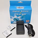 2Pcs Battery+Charger for Casio Exilim Zoom EX-Z100 EX-Z1000 EX-Z1050 EX-Z1080 EX-Z200 EX-Z3 EX-Z30 EX-Z300 EX-Z40 EX-Z400 EX-Z450 EX-Z50 EX-Z500 EX-Z55 EX-Z57 EX-Z600 EX-Z700 EX-Z750 EX-Z850