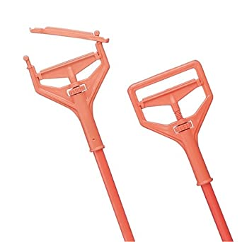 "Impact 84 1"" Diameter x 7-5/8"" Head x 64"" Length, Orange Fiberglass Color, Plastic Speed Change Mop Handle"