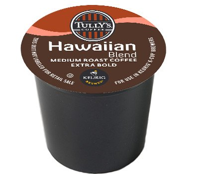 48 Count - Tully's Coffee Hawaiian Blend Coffee K Cup For KEURIG Brewers (Keurig Hawaiian compare prices)