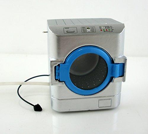 Puppen-haus-miniatur-möbel Küche-einheit Silber-waschmaschine