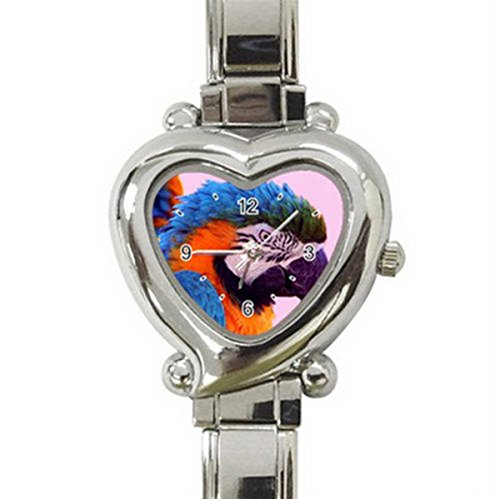 DIB210Mimic green orange blue parrot heart charm watch (Marvel Mimic compare prices)