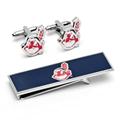 Cleveland Indians Cufflinks and Money Clip Gift Set by Cufflinks