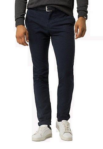 TOMMY HILFIGER Bleeker Chino Pantalone chino BLU in cotone slim 401 UOMO (31, blu)