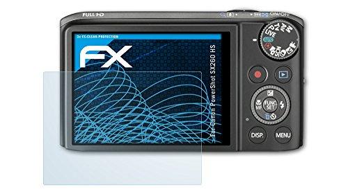 3 x atFoliX Canon PowerShot SX260 HS Schutzfolie Folie - FX-Clear kristallklar