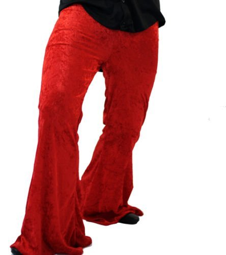 Plus Size Flared Trousers for Men or Women. Ideal for 70s/hippy fancy dress. Many Sizes from 16 to 42.