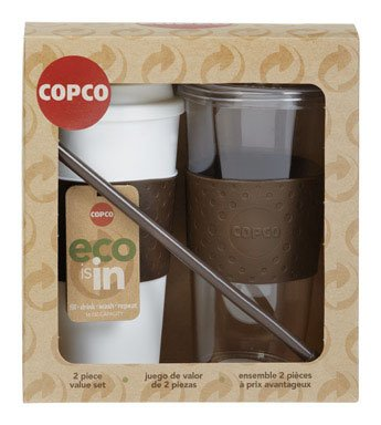 Copco Stir 'N Sip Cup Set Brown Sierra 16 Oz 2pc. Plastic (Copco 24 Oz Travel Mug compare prices)