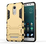 Gulwan Kickstand Diffender Cover For Xiaomi Redmi Note 3 Back Cover In Gold Colour
